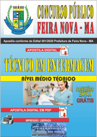Apostila Digital Concurso Público Prefeitura de Feira Nova - MA 2020  Área Técnico em Enfermagem