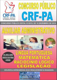 Apostila impressa concurso Conselho Regional de Farmácia - Pa 2020 Nível Médio Auxiliar Administrativo