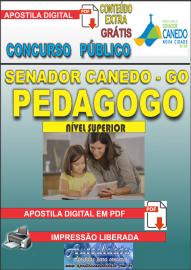 Apostila Digital SENADOR CANEDO/GO 2020 - Professor - Pedagogo