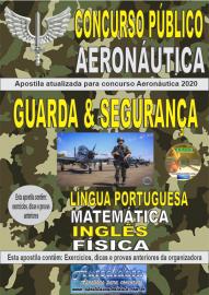 Apostila Impressa Concurso Público Aeronáutica - 2020 Guarda e Segurança