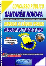 Apostila Digital Concurso Público Prefeitura de Santarém Novo - PA 2021 Operador de Máquinas Pesadas e Operador de Trator de Pneu