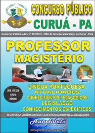 Apostila Impressa Concurso Público Prefeitura Municipal de Curuá - Pará 2019 Professor Magistério
