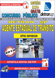 Apostila Digital Concurso DETRAN - SP -  2019 - Agente Estadual De Trânsito