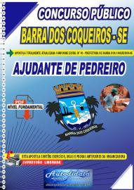 Apostila Digital Concurso Público Prefeitura de Barra dos Coqueiros - SE 2020 Nível Fundamental Ajudante de Pedreiro