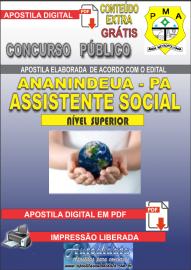 Apostila Digital ANANINDEUA/PA 2019 - Assistente Social