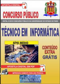 Apostila Digital Concurso Universidade do Estado do Pará - UEPA 2019 Técnico em Informática