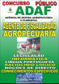 Apostila Impressa Concurso ADAF - AM - 2018 - Agente de Fiscalização Agropecuária