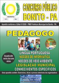 Apostila Impressa Concurso Público Prefeitura de Bonito - PA 2020 Pedagogo