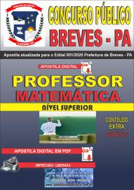 Apostila Digital Concurso Público Prefeitura de Breves - PA 2020 Professor de Matemática