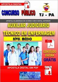 Apostila  digital concurso TJ-PA 2019 - AUXILIAR JUDICIÁRIO - TÉCNICO EM ENFERMAGEM