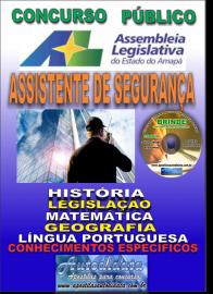 Apostila Impressa Concurso ASSEMBLEIA LEGISLATIVA DO AMAPÁ - 2019 - Assistente De Segurança