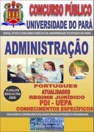 Apostila Impressa Concurso Universidade do Estado do Pará - UEPA 2019 Administração