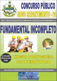 Apostila Impressa Concurso Prefeitura Municipal Novo Repartimento - PA 2019 Fundamental Incompleto