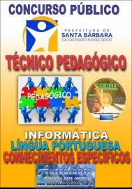 Apostila Impressa Concurso SANTA BÁRBARA - PA 2019 - Técnico Pedagógico