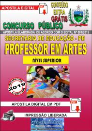 Apostila Digital Concurso SEECT/PB - 2019 - Professor De Artes