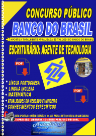 Apostila digital Banco do Brasil 2021 - Escriturário: Agente de Tecnologia