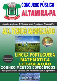 Apostila Impressa Concurso Prefeitura de Altamira - PA 2020 - Auxiliar Técnico Agropecuário