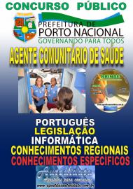 Apostila Impressa Concurso da Prefeitura de Porto Nacional - TO – 2019 - Agente Comunitário De Saúde