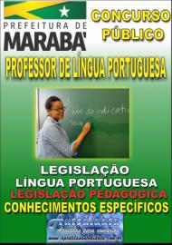 Apostila Impressa Concurso MARABÁ - PA 2018 - Professor Licenciado Em Língua Portuguesa