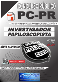 Apostila digital Concurso Polícia Civil do Paraná 2020 Investigador e Papiloscopista