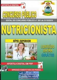 Apostila Digital Concurso - Prefeitura Municipal de Imperatriz - MA 2019 - Nutricionista