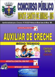 Apostila Digital Concurso Público Monte Santo de Minas - MG 2020 Auxiliar de Creche