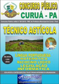 Apostila Impressa Concurso Público Prefeitura Municipal de Curuá - Pará 2019 Técnico em Agrícola