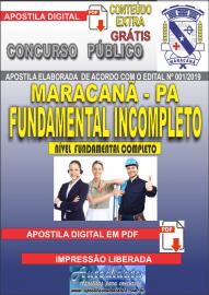 Apostila Digital Concurso de Maracanã/Pa 2019 – Nível Fundamental Incompleto