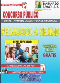 Apostila Digital Concurso  Prefeitura Municipal de Santana do  Araguaia - PA 2019 - Pedagogo Vinculado a SEMAD