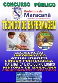 Apostila Impressa Concurso de Maracanã/Pa 2019 – Técnico De Enfermagem