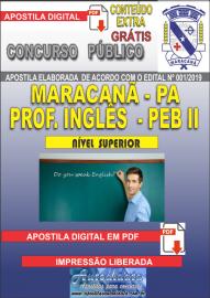 Apostila Digital MARACANÃ/PA 2019 - Professor Anos Finais – Peb II –Inglês