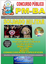 Apostila Impressa Concurso PM-BA 2019 - Soldado Militar