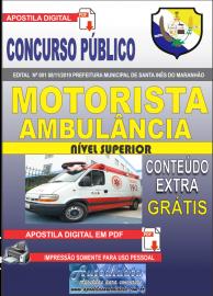 Apostila Digital Concurso Prefeitura Municipal de Santa Inês - Maranhão 2019 Motorista Ambulância