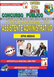 Apostila Digital Concurso da Prefeitura de Porto Nacional - TO – 2019 - Assistente Administrativo