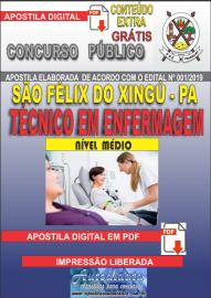 Apostila Digital concurso SÃO FÉLIX DO XINGU/PA - 2019 – Técnico Em Enfermagem