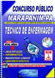 Apostila Digital Concurso Público Prefeitura de Marapanim - PA 2020 Técnico de Enfermagem
