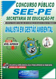 Apostila Digital Concurso SEE-PE Secretaria de Educação do Estado de Pernambuco 2021 Analista em Gestão Ambiental