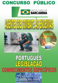 Apostila Impressa Concurso PREFEITURA MUNICIPAL DE BARCARENA - PA - 2019 - Agente de Combate às Endemias - ACE
