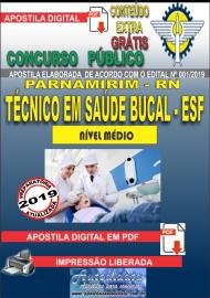 Apostila Digital Concurso PARNAMIRIM – RN/2019 - Técnico em Saúde Bucal ESF