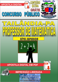 Apostila Digital TAILÂNDIA/PA 2019 - Professor De Matemática