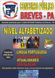 Apostila Impressa Concurso Público Prefeitura de Breves - PA 2020 Nível Alfabetizado