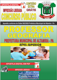 Apostila Digital Concurso Público Prefeitura Municipal de Altamira - Pa 2020 Área Professor de Geográfia