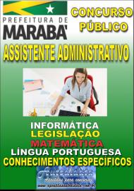 Apostila Impressa Concurso MARABÁ - PA 2018 - Assistente Administrativo