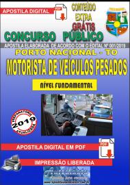 Apostila Digital Concurso da Prefeitura de Porto Nacional - TO – 2019 - Motorista De Veículos Pesados