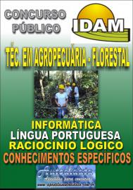 Apostila Impressa Concurso IDAM - AM 2018 - Técnico em Agropecuária - Florestal