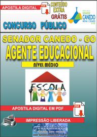 Apostila Digital SENADOR CANEDO/GO 2020 - Agente Educacional