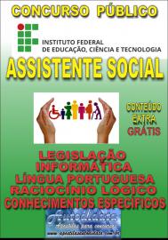 Apostila Digital Concurso INSTITUTO FEDERAL DE EDUCAÇÃO, CIÊNCIA E TECNOLOGIA DO PARÁ - IFPA - PA - 2019 - Assistente social