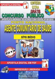 Apostila Digital Concurso da Prefeitura de Porto Nacional - TO – 2019 - Agente Comunitário De Saúde