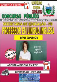 Apostila Digital Concurso SEECT/PB - 2019 - Professor De Língua Inglesa