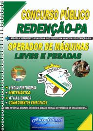 Apostila Impressa Concurso Público Prefeitura de Redenção - PA 2020 Operador de Máquinas Pesadas